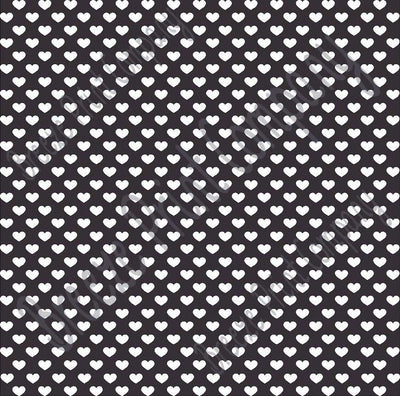 Black with white small heart craft  vinyl sheet - HTV -  Adhesive Vinyl -  Valentine's Day HTV3956 - Breeze Crafts