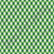 Green and white argyle plaid craft  vinyl sheet - HTV -  Adhesive Vinyl -  St Patrick's Day HTV3805