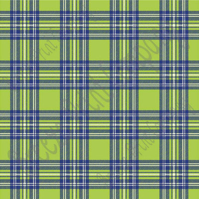 Lime, navy and white tartan plaid craft vinyl sheet - HTV -  Adhesive Vinyl -  HTV1852