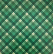 Green plaid craft  vinyl sheet - HTV -  Adhesive Vinyl -  Christmas HTV1854