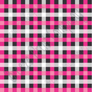 Craft pattern HTV Pinks, grey, black and white buffalo check craft vinyl printed sheet - HTV -  Adhesive Vinyl -  HTV3407 - Breeze Crafts