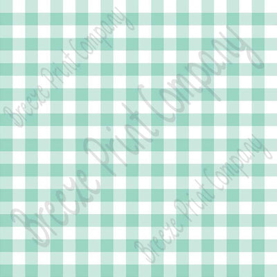 Mint and white buffalo check craft vinyl pattern sheet - HTV -  Adhesive Vinyl -   htv3408