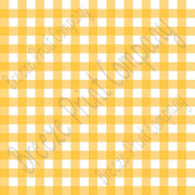 Yellow and white buffalo check craft vinyl pattern sheet - HTV -  Adhesive Vinyl -   htv3410