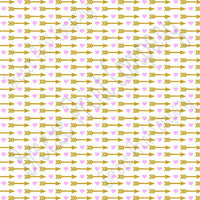 White with light pink heart and gold arrow pattern craft vinyl sheet - HTV -  Adhesive Vinyl -  Valentine's Day HTV3707