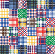 Patchwork quilt plaid craft vinyl sheet - HTV -  Adhesive Vinyl -  HTV1836