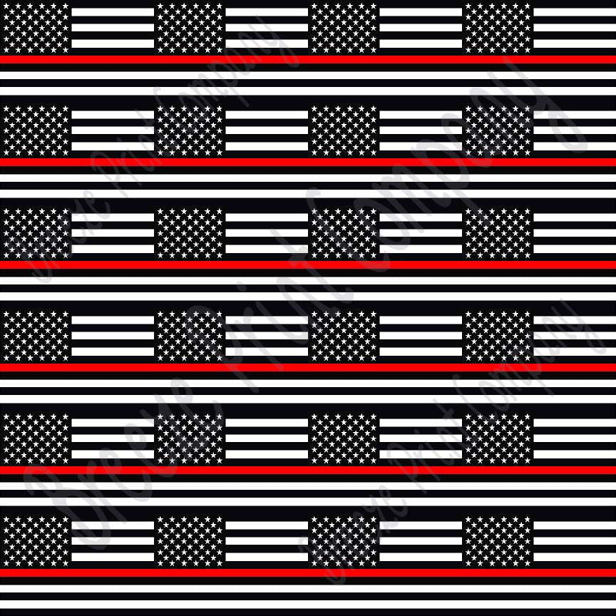 Flag craft  vinyl sheet, HTV, adhesive vinyl pattern black and white with red line 24 2x3 inch flags per  sheet, HTV, adhesive vinyl HTV2806 - Breeze Crafts