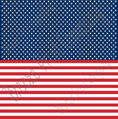 Flag stars and stripes craft vinyl sheet - HTV -  Adhesive Vinyl -  HORIZONTAL pattern HTV2807 - Breeze Crafts