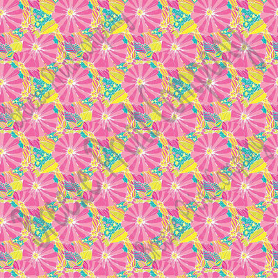 Tropical abstract flower craft vinyl sheet - HTV -  Adhesive Vinyl -  tropical floral pattern vinyl inspired beach pattern HTV2253