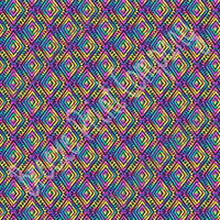 Ikat Aztec watercolor, rainbow, tribal pattern with black craft vinyl -HTV- Adhesive-  Peruvian pattern HTV2150
