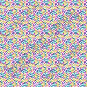Ikat Aztec watercolor rainbow tribal pattern with white craft vinyl Peruvian pattern HTV2151