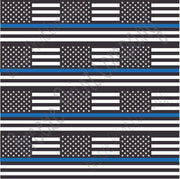 Police Blue line black and white American flag print craft vinyl sheet - HTV -  Adhesive Vinyl -   HTV1568