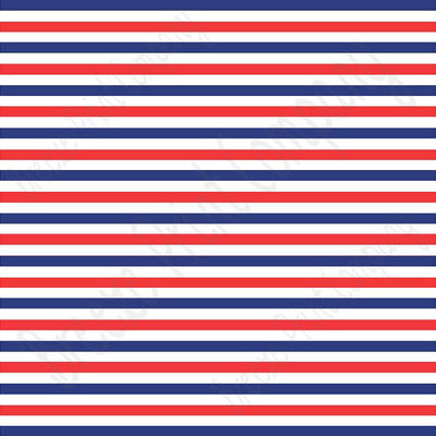 Red, navy blue and white stripe craft  vinyl sheet - HTV -  Adhesive Vinyl -  Fourth of July stripe pattern HTV3027
