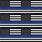 Flag craft  vinyl sheet, HTV, adhesive vinyl pattern black and white with blue line 6 4x6 inch flags per sheet, HTV, adhesive vinyl HTV2802 - Breeze Crafts