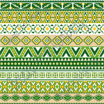Aztec tribal pattern craft vinyl dark green, sage, beige, yellow-gold - HTV -  Adhesive Vinyl -  Peruvian pattern HTV2101 - Breeze Crafts