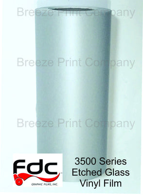 FDC 3500 series Etched Glass Vinyl Film adhesive vinyl 12 inch x 5 yard roll - Breeze Crafts