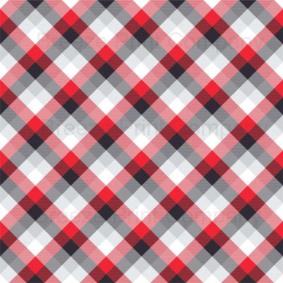 Black, red, grey and white plaid craft vinyl sheet - HTV -  Adhesive Vinyl -  pattern HTV18589 - Breeze Crafts