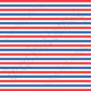 Red, blue and white stripe craft  vinyl sheet - HTV -  Adhesive Vinyl -  Fourth of July stripe pattern HTV3024