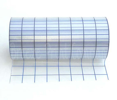Transfer tape for adhesive vinyl blue grid 8 inch x 50 feet medium tack