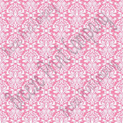 Pink and white damask floral craft  vinyl - HTV -  Adhesive Vinyl -  HTV4204