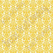 White with yellow-gold damask floral craft  vinyl - HTV -  Adhesive Vinyl -  HTV4203