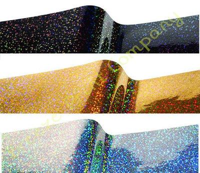 Holographic adhesive gloss permanent vinyl sheet sticky vinyl silver, gold and black galaxy metallized RTape VinylEfx Decorative Metal Flake