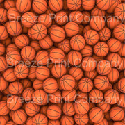 Basketball print craft  vinyl sheet - HTV -  Adhesive Vinyl -  pattern vinyl sports ball printed vinyl HTV252 - Breeze Crafts