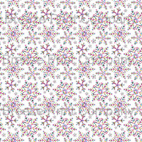 Colorful snowflake craft vinyl sheet - HTV -  Adhesive Vinyl -  winter holiday pattern HTV1375 - Breeze Crafts