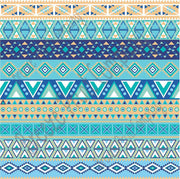 Blues, aquas, tan and white Aztec tribal pattern craft vinyl - HTV -  Adhesive Vinyl -  Peruvian pattern HTV2106 - Breeze Crafts