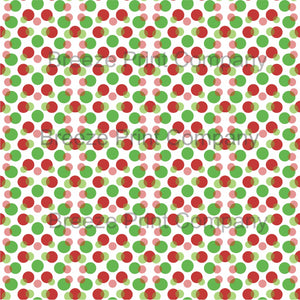 Christmas color dark red and green dots with white background polka dot  pattern craft vinyl - HTV - Adhesive Vinyl - HTV1652