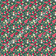 Christmas tree, moose, stocking, candy cane craft vinyl sheet, HTV, adhesive vinyl winter holiday printed vinyl red, green and tan HTV1387 - Breeze Crafts