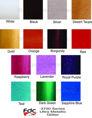Glitter sticky vinyl Ultra Metallic adhesive outdoor viny FDC 3700 series 5 yard roll multiple colors available - Breeze Crafts