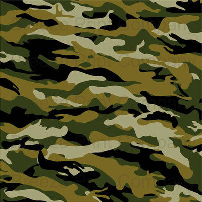 Camouflage craft  vinyl sheet - HTV -  Adhesive Vinyl -  green brown black camo army pattern  HTV90 - Breeze Crafts