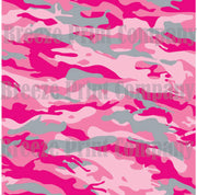 Pink camouflage craft  vinyl - HTV -  Adhesive Vinyl -  pink gray camo pattern  HTV1039