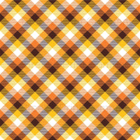 Brown, orange, yellow and white plaid craft vinyl sheet - HTV -  Adhesive Vinyl -  Thanksgiving fall autumn pattern HTV1857 - Breeze Crafts