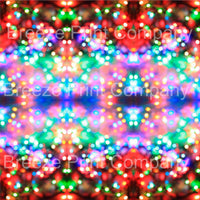 Bokeh craft vinyl sheet - HTV -  Adhesive Vinyl -  winter holiday Christmas lights pattern printed vinyl HTV1377 - Breeze Crafts