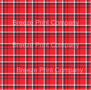 Red, white and black plaid pattern vinyl sheet - HTV - Adhesive Vinyl - HTV1842