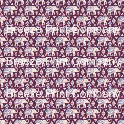 Elephant pattern printed craft vinyl sheet - HTV -  Adhesive Vinyl -  watercolor tribal HTVWC25 - Breeze Crafts
