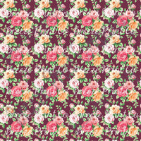 Rose floral craft  vinyl sheet - HTV -  Adhesive Vinyl -  with maroon background flower pattern vinyl  HTV2233