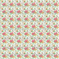 Rose floral craft  vinyl sheet - HTV -  Adhesive Vinyl -  with white background flower pattern vinyl  HTV2228