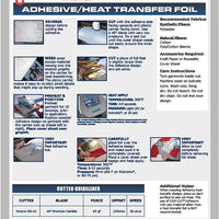 Stahls Heat Transfer Foil--Metallic textile film w/foil adhesive sheet INCLUDED