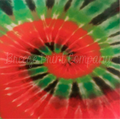 Tie Dye red and green Christmas pattern craft  vinyl sheet - HTV -  Adhesive Vinyl -  HTV2501