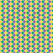 Purple green and yellow quatrefoil craft  vinyl sheet - HTV -  Adhesive Vinyl -  quarterfoil pattern Mardi Gras  HTV1460