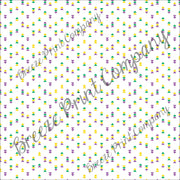Purple, yellow, green and white triangle craft vinyl printed sheet - HTV -  Adhesive Vinyl -  Mardi Gras HTV3752 modern