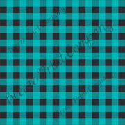 Craft HTV Teal and black buffalo plaid craft vinyl sheet - HTV -  Adhesive Vinyl -  lumberjack plaid HTV1839 - Breeze Crafts