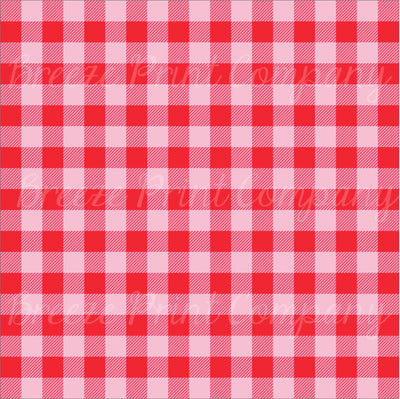 Craft HTV Red and light pink buffalo plaid craft vinyl sheet - HTV -  Adhesive Vinyl -  lumberjack plaid HTV1843 - Breeze Crafts