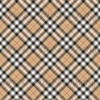 Pride of Scotland gold tartan plaid pattern vinyl sheet - HTV -  Adhesive Vinyl -  Christmas HTV1862