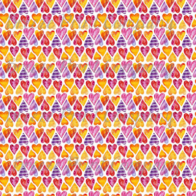 Watercolor HTV heart pattern craft craft vinyl sheet - HTV -  Adhesive Vinyl -  Valentine's Day HTV3958
