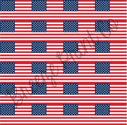 HTV USA Flag craft vinyl sheet pattern 24 2x3 inch American flags per sheet HTV2808