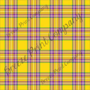 Craft pattern HTV yellow, purple, green and white plaid craft vinyl printed sheet - HTV -  Adhesive Vinyl -  Mardi Gras HTV3412 - Breeze Crafts
