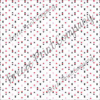 Black, red, light pink and white triangle craft vinyl printed sheet - HTV -  Adhesive Vinyl -  Valentine's HTV3753 modern - Breeze Crafts